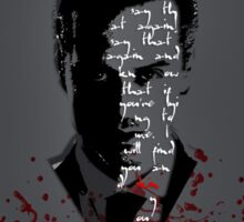 Moriarty Was Real (w/ text) Sticker