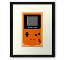 Game Boy Orange Framed Print