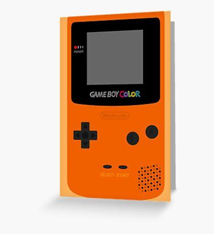 Game Boy Orange Greeting Card