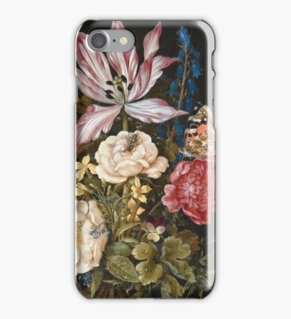 Vintage famous art - Ambrosius Bosschaerts The Elder - Still-Life With Flowers iPhone Case/Skin