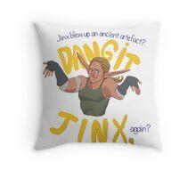 Dangit, Jinx Throw Pillow