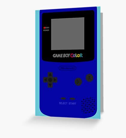 Game Boy Blue Greeting Card