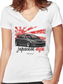 Civic VII (black) Women's Fitted V-Neck T-Shirt