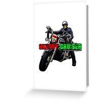 Skeggy Cruiser Motif Greeting Card