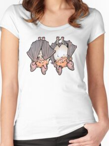 Greater mouse-eared bats Women's Fitted Scoop T-Shirt