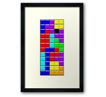 Colorful Tetrominoes Framed Print