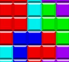 Colorful Tetrominoes Sticker