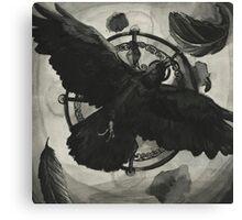Ink Raven Canvas Print
