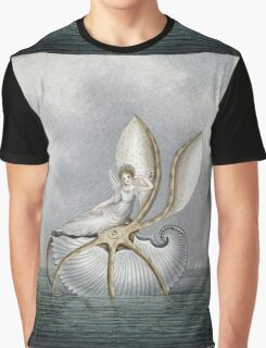Vintage famous art - Amelia Jane Murray  - A Fairy Resting On A Shell Graphic T-Shirt