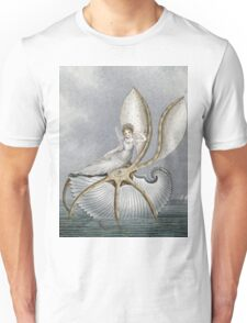 Vintage famous art - Amelia Jane Murray  - A Fairy Resting On A Shell Unisex T-Shirt