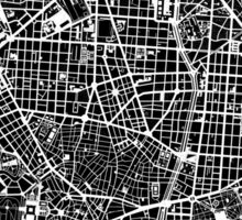 Madrid city map black&white Sticker