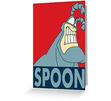 "The Tick SPOON- ""Hope"" Poster Parody Greeting Card"