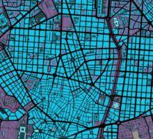 Madrid city map twilight Sticker