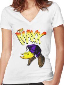 Hopping Boy Women's Fitted V-Neck T-Shirt