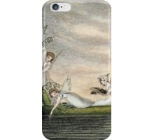 Vintage famous art - Amelia Jane Murray  - Fairies Floating Downstream In A Peapod iPhone Case/Skin
