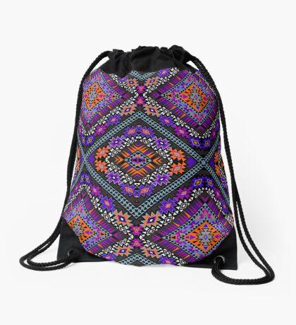Ethnical Geo Bonanza - between future and past Drawstring Bag