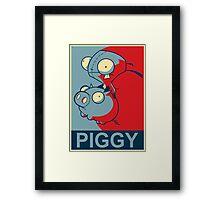 """GIR Piggy- """"Hope"""" Poster Parody Framed Print"""