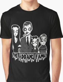 The Addams Family Portrait Graphic T-Shirt