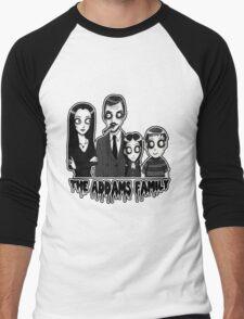 The Addams Family Portrait Men's Baseball ¾ T-Shirt