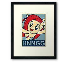 "Fluttershy HNNGG- ""Hope"" Poster Parody Framed Print"