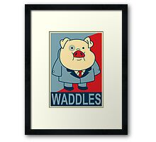 "Waddles- ""Hope"" Poster Parody Framed Print"