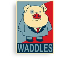 "Waddles- ""Hope"" Poster Parody Canvas Print"