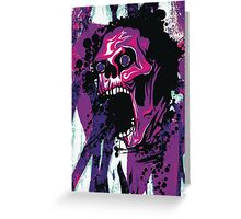 Wicked Skull With Paint Splatters Greeting Card