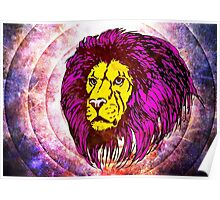 Lion Modern Pop Colors Poster