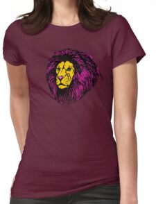 Lion Modern Pop Colors Womens Fitted T-Shirt