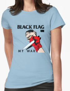 Punk Restyling killer knife Black Flag Womens Fitted T-Shirt