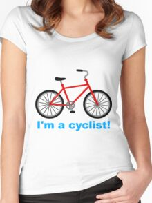 I am cyclist Women's Fitted Scoop T-Shirt