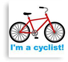 I am cyclist Canvas Print