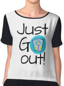 Just go out Chiffon Top
