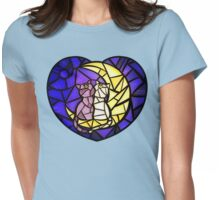 Moon Kitties Stained Glass Womens Fitted T-Shirt