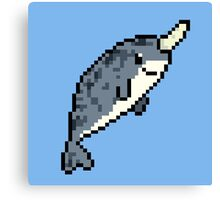 8-bit Narwhal Canvas Print