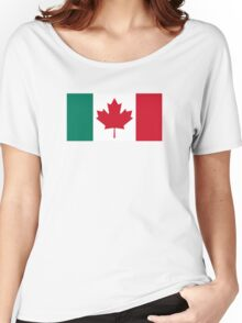 Canada / Italy Flag Mashup  Women's Relaxed Fit T-Shirt