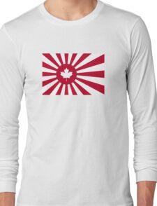 Japan / Canada Flag Mashup Long Sleeve T-Shirt