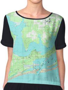 USGS TOPO Map Alabama AL Orange Beach 304753 1980 24000 Women's Chiffon Top