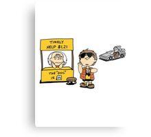 Peanuts Back 2 The Future Metal Print