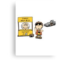 Peanuts Back 2 The Future Canvas Print