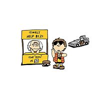 Peanuts Back 2 The Future Photographic Print