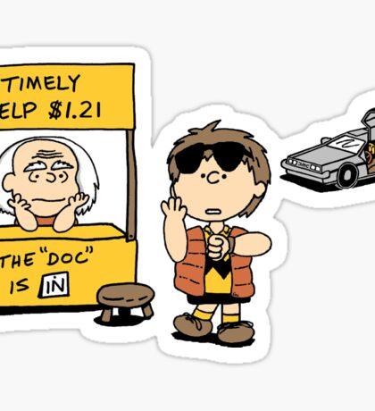 Peanuts Back 2 The Future Sticker