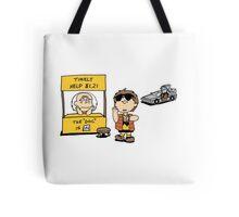 Peanuts Back 2 The Future Tote Bag
