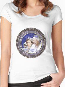 Queen Elizabeth, Happy 90th Birthday-Collector Design Women's Fitted Scoop T-Shirt