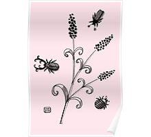 Flowers in pink Poster