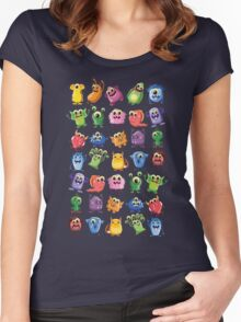 cute monsters Women's Fitted Scoop T-Shirt