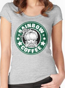 Rainbow Coffee Women's Fitted Scoop T-Shirt