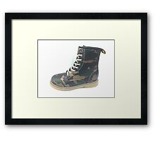Army boot Framed Print