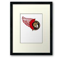 Senators-Red Wings Logo Mashup Framed Print