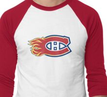 Montreal Flames - Calgary Canadiens Men's Baseball ¾ T-Shirt
